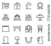 thin line icon set   shop... | Shutterstock .eps vector #773166058