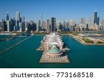 aerial view of navy pier and... | Shutterstock . vector #773168518