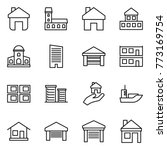thin line icon set   home ... | Shutterstock .eps vector #773169754