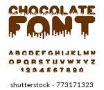 chocolate font. sweetness... | Shutterstock .eps vector #773171323
