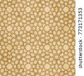 retro brown islam seamless...   Shutterstock .eps vector #773171353