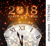 happy new year 2018 background...   Shutterstock .eps vector #773174560