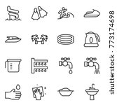 thin line icon set   aquapark ... | Shutterstock .eps vector #773174698