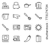 thin line icon set   water tap  ... | Shutterstock .eps vector #773174734