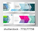 set of business templates for... | Shutterstock .eps vector #773177758
