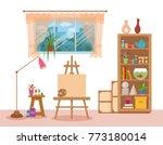 art studio interior colorful... | Shutterstock .eps vector #773180014