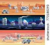 mars colonization astronomy...   Shutterstock .eps vector #773180293