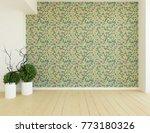 green empty scandinavian room... | Shutterstock . vector #773180326