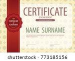 blank certified border template ... | Shutterstock .eps vector #773185156