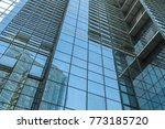 abstract building. blue glass... | Shutterstock . vector #773185720