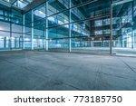 empty brick road nearby office... | Shutterstock . vector #773185750