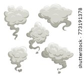 fog or smoke after exposion set.... | Shutterstock .eps vector #773191378