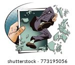 stock illustration. people in... | Shutterstock . vector #773195056