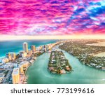 aerial view of miami beach... | Shutterstock . vector #773199616