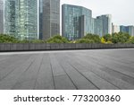 empty and modern square in... | Shutterstock . vector #773200360