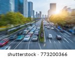 blurred motion traffic in the... | Shutterstock . vector #773200366