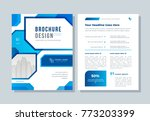annual report  broshure  flyer  ... | Shutterstock .eps vector #773203399
