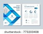 annual report  broshure  flyer  ... | Shutterstock .eps vector #773203408