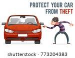 automobile car steal burglar...   Shutterstock .eps vector #773204383