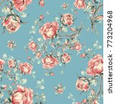seamless pattern of vintage...   Shutterstock . vector #773204968