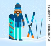 winter sport background with... | Shutterstock .eps vector #773208463