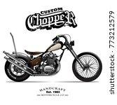 vintage chopper motorcycle...   Shutterstock .eps vector #773212579