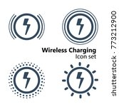 wireless charging icon set ... | Shutterstock .eps vector #773212900
