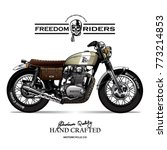 vintage motorcycle poster | Shutterstock .eps vector #773214853