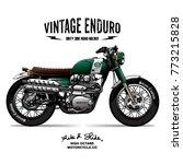 vintage srambler motorcycle... | Shutterstock .eps vector #773215828