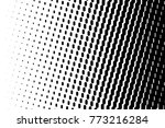 abstract futuristic halftone... | Shutterstock .eps vector #773216284