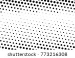 abstract futuristic halftone... | Shutterstock .eps vector #773216308
