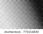abstract monochrome halftone... | Shutterstock .eps vector #773216830