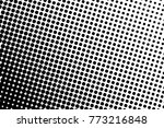 abstract monochrome halftone... | Shutterstock .eps vector #773216848