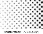 abstract monochrome halftone... | Shutterstock .eps vector #773216854