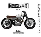vintage srambler motorcycle... | Shutterstock .eps vector #773216899