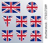 uk flag icon set. british flag... | Shutterstock .eps vector #773217289