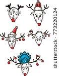 new year's beast deer | Shutterstock .eps vector #773220124