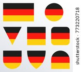 germany flag icon set. german... | Shutterstock .eps vector #773220718