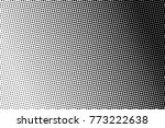 abstract monochrome halftone... | Shutterstock .eps vector #773222638