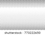 abstract monochrome halftone... | Shutterstock .eps vector #773222650