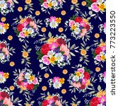 seamless pattern with bright... | Shutterstock .eps vector #773223550