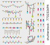 christmas garland string and... | Shutterstock .eps vector #773232694