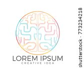 creative brain logo design.... | Shutterstock .eps vector #773234218