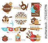 cooking school master class... | Shutterstock .eps vector #773235796
