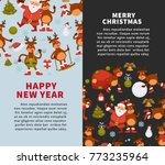 merry christmas and happy new... | Shutterstock .eps vector #773235964