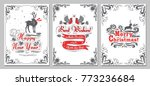 christmas and new year greeting ... | Shutterstock .eps vector #773236684