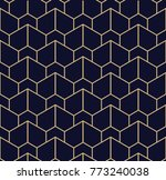 Stock photo abstract geometric pattern with lines a seamless background blue black and gold texture 773240038