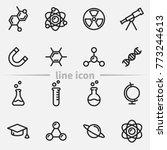 set of science vector thin line ...   Shutterstock .eps vector #773244613