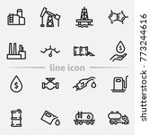 set of oil and gas vector thin... | Shutterstock .eps vector #773244616
