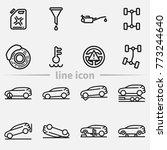 set of car repair outline... | Shutterstock .eps vector #773244640